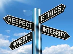 ethics, respect, honesty, integrity